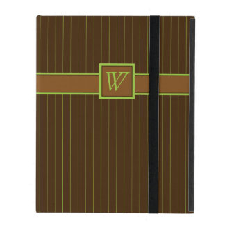 Chocolate and Lime Pinstripes iPad Powis Case Cover For iPad