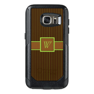 Chocolate and Lime Pinstripes Otterbox Phone Case