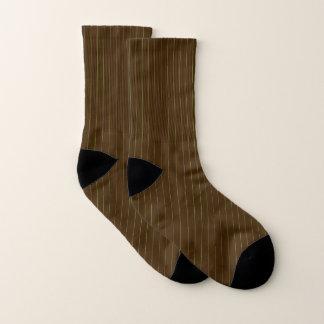 Chocolate and Lime Pinstripes Socks