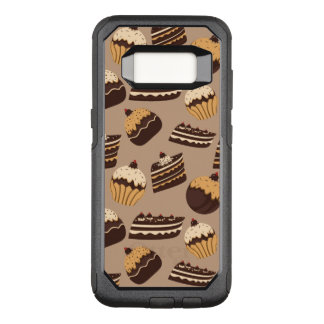 Chocolate and pastries pattern 3 OtterBox commuter samsung galaxy s8 case