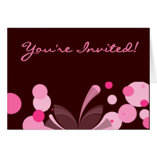 Chocolate and Pink Invitation