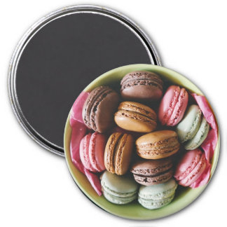Chocolate and Pink Macaroon Refrigerator Magnet