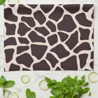 Chocolate and Tan Giraffe Kitchen Towel