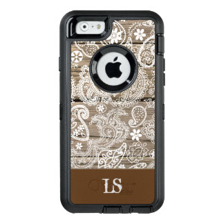 Chocolate and White Paisley OtterBox iPhone 6/6s Case