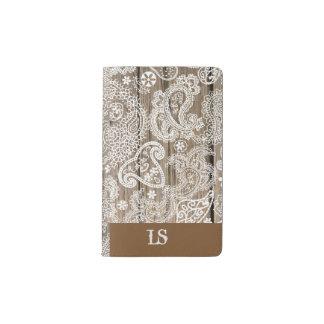Chocolate and White Paisley Pocket Moleskine Notebook