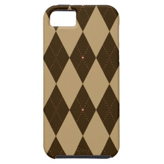 Chocolate Argyle iPhone 5 Case