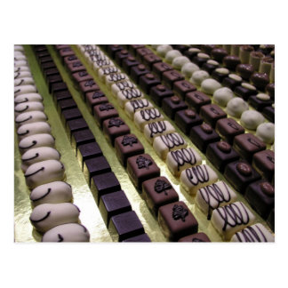 Chocolate assortments postcard