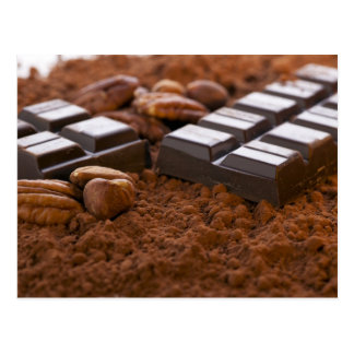 Chocolate Bar and Cocoa Powder Postcard