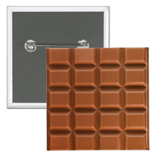 Chocolate bar background badge 2 inch square button