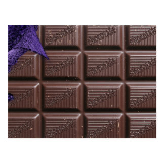 chocolate bar postcard, postcard of chocolate bar