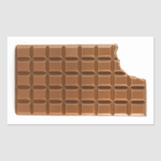Chocolate bar with a missing bite sticker