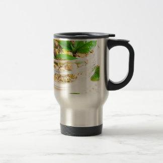 Chocolate bar with muesli and flakes travel mug
