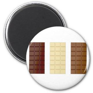 Chocolate bars 2 inch round magnet