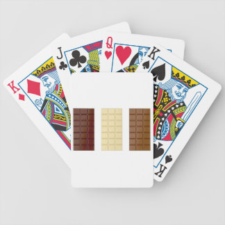 Chocolate bars bicycle playing cards