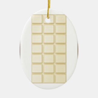Chocolate bars ceramic ornament