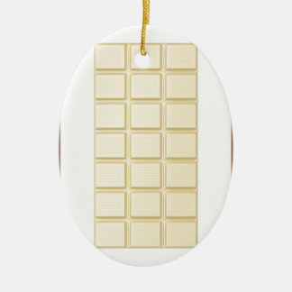 Chocolate bars ceramic oval ornament