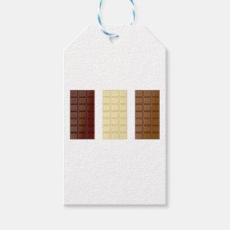 Chocolate bars gift tags