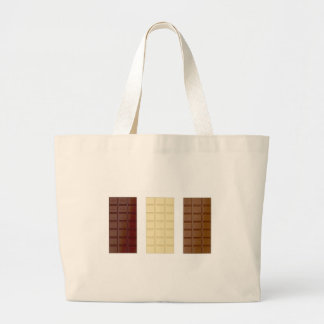 Chocolate bars large tote bag