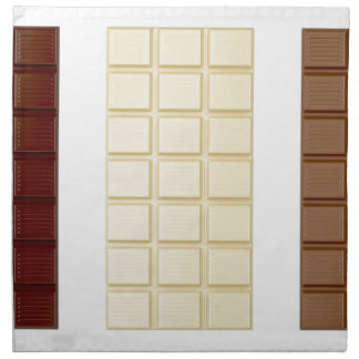 Chocolate bars napkin