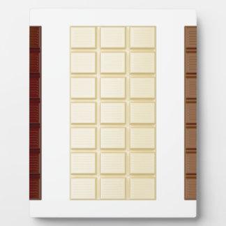 Chocolate bars plaque