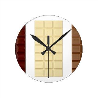 Chocolate bars round clock