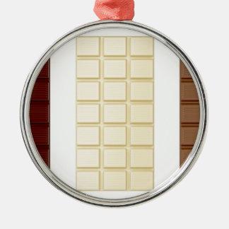 Chocolate bars Silver-Colored round ornament