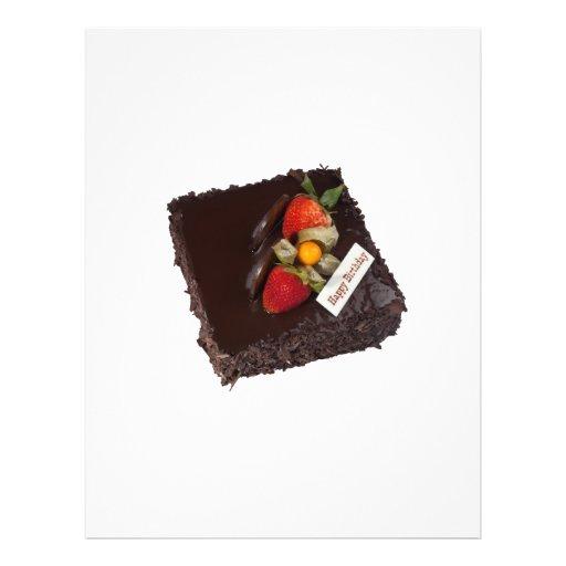 Chocolate birthday cake custom flyer