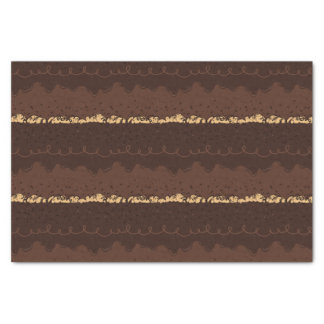 Chocolate Birthday Cake Frosting Tissue Paper