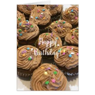 Chocolate Birthday Cupcakes Card