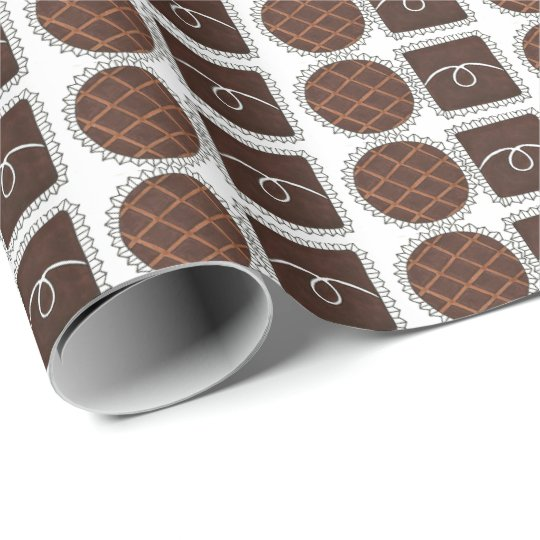 Chocolate Bon Bon Candy Chocoholic Food Gift Wrap