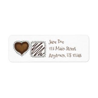 Chocolate Bon Bon Candy Valentine's Address Labels