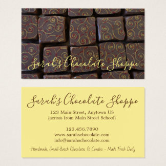 Chocolate Bonbon Chocolatier Candy Shop Sweet Food Business Card