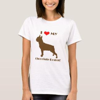 Chocolate Boston Terrier - Ladies T T-Shirt