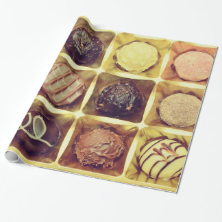 Chocolate box wrapping paper