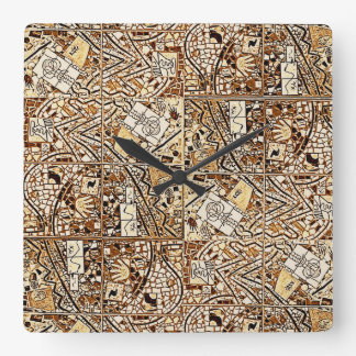 CHOCOLATE BROWN ABSTRACT CLOCK 2