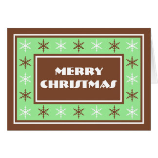 Chocolate Brown and Green - Merry Christmas Card