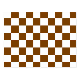 Chocolate Brown Checks Postcard