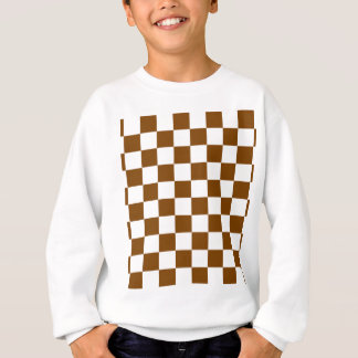Chocolate Brown Checks Sweatshirt