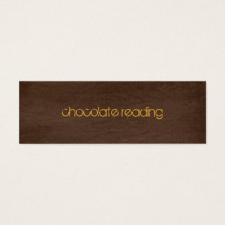 chocolate brown denim mini business card