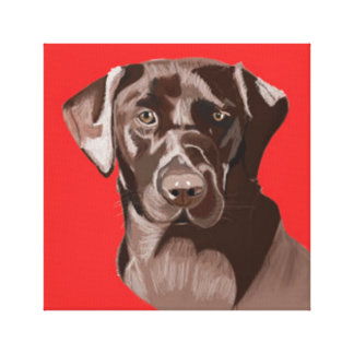 Chocolate Brown Labrador Canvas Print