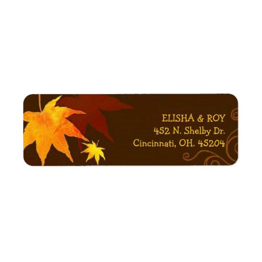Chocolate Brown Maple Leaf Wedding