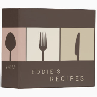 Chocolate Brown Modern Cooking Recipe Book Binder