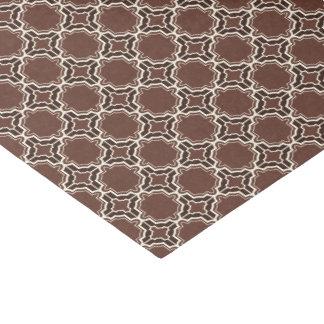 Chocolate Brown Moroccan Lattice Pattern Tissue Paper