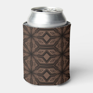 Chocolate Brown Mosaic Foam Can Cooler