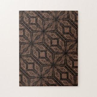 Chocolate Brown Mosaic Jigsaw Puzzle w/ Gift Box