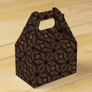 Chocolate Brown Mosaic Party Favor Box