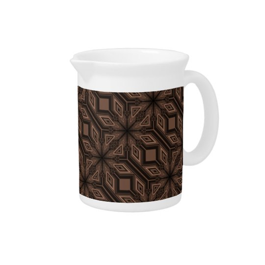 Chocolate Brown Mosaic Porcelain Pitcher