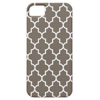Chocolate Brown Quatrefoil Case For The iPhone 5