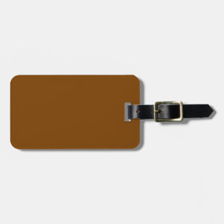 Chocolate Brown Solid Color Bag Tag