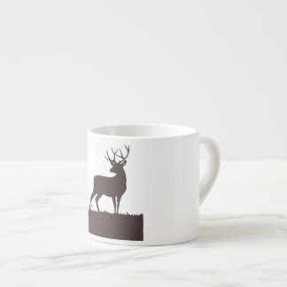 Chocolate brown stag cup